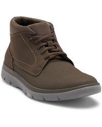Clarks - Tunsil Mid Stone Sneaker - Lyst