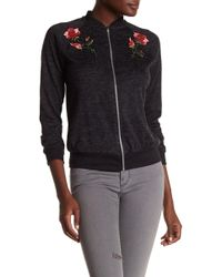 West Kei - Rose Applique Sweater Bomber Jacket - Lyst