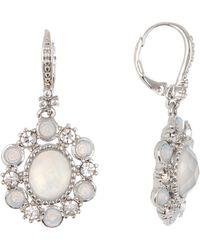 Marchesa Oval Drop Earrings