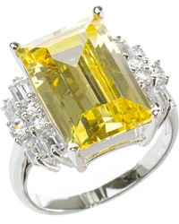 Kenneth Jay Lane - Prong Set Faceted Cz Ring - Lyst