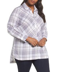 Foxcroft   Maddy Winter Plaid Shirt   Lyst