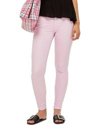 TOPSHOP Moto Leigh Mid Rise Jeans - Purple