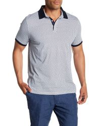 Tocco Toscano - Short Sleeve Micro Square Print Polo - Lyst