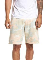 Wesc - Marty Pastel Camo Fleece Shorts - Lyst