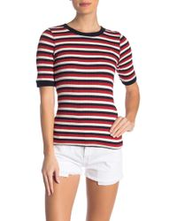 Current/Elliott - The Dorthea Ribbed Stripe Tee - Lyst