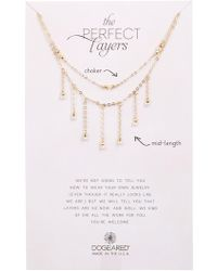Dogeared - Perfect Layers Dangling 3mm Freshwater Potato Pearl Necklace - Set Of 2 - Lyst