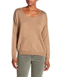 Chaser - Silk Blend Pocket Sweater - Lyst