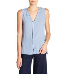 B Collection By Bobeau - Lily Pleated Back Solid Tank Top - Lyst