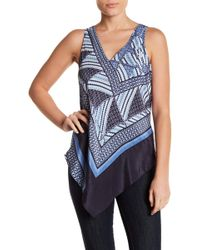 NIC+ZOE - Calypso Patterned Tank Top - Lyst