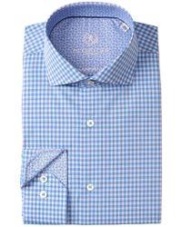 Bugatchi - Check Shaped Fit Dress Shirt - Lyst