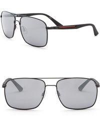 PUMA - Flexstyle V1 59mm Navigator Sunglasses - Lyst