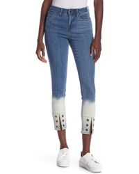 William Rast - Sculpted High Rise Ankle Jeans - Lyst