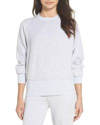TOPSHOP - Cool Touch Sweatshirt - Lyst