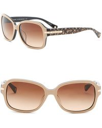 COACH - 58mm Rectangle Sunglasses - Lyst