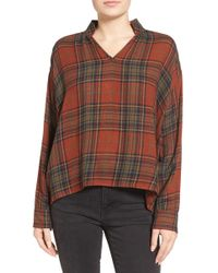 Madewell - Highroad Plaid Popover Shirt - Lyst