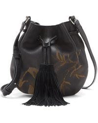 Lucky Brand - Anza Leather Drawstring Crossbody - Lyst