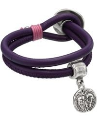 Uno De 50 - Lazy Heart Charm Leather Bracelet - Lyst