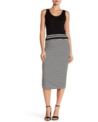 Max Studio | Stripe Midi Skirt | Lyst