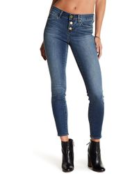 Articles of Society - Britney Exposed Button Skinny Jeans - Lyst