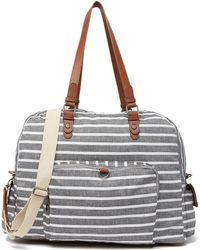 Madden Girl - Glory Stripe Large Jersey Weekend Bag - Lyst