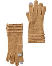 MICHAEL Michael Kors - Ottoman Stitch Button Gloves - Lyst