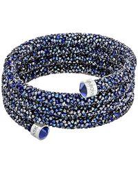 Swarovski - Crystaldust Wide Bangle - Lyst