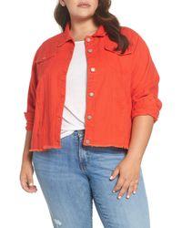 Glamorous - Cutoff Denim Jacket (plus Size) - Lyst