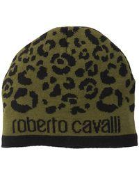 Roberto Cavalli - Printed Wool Blend Beanie - Lyst 9b43e6fff795