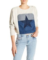 DIESEL - Front Star Embroidered Crop Pullover - Lyst