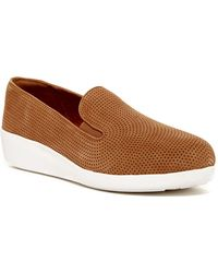 Fitflop - F-pop Skate Perforated Trainer - Lyst