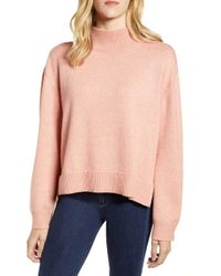 Chelsea28 - Tie Back Cotton Blend Sweater - Lyst