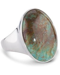 Relios - Sterling Silver Kingman Turquoise Bold Ring - Lyst
