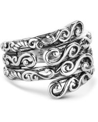Relios - Sterling Silver Filigree Stacked Wrap Ring - Lyst