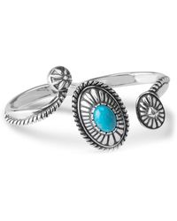 Relios - Sterling Silver Turquoise Accented Wrap Two Finger Ring - Lyst