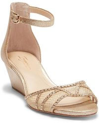 Imagine Vince Camuto - Joan Ankle Strap Wedge Sandal - Lyst