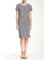 Cece by Cynthia Steffe - Jacquard Knit Striped Skirt - Lyst