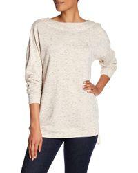 Max Studio | Side Zip Tunic Sweatshirt | Lyst