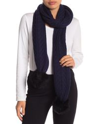 UGG - Genuine Sheepskin Pompom Textured Scarf - Lyst