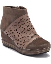 Antelope - Lasercut Leather Wedge Bootie - Lyst