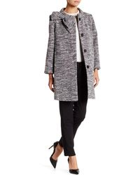 Cece by Cynthia Steffe - Mock Neck Oversized Bow Coat - Lyst