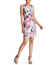 Connected Apparel - Floral Photo Sheath Dress - Lyst
