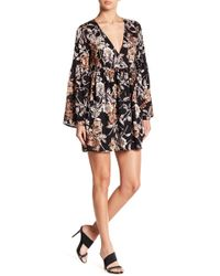 Rokoko by Dazz - Floral Faux Wrap Dress - Lyst