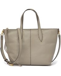 3a285197 Rebecca Minkoff Leather Tassel Satchel in Brown - Lyst