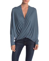FAVLUX - Surplice Solid Top - Lyst