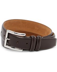 Cole Haan - Feathered Edge Leather Belt - Lyst