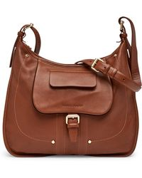 Longchamp - Bzane Leather Shoulder Bag Hobo - Lyst