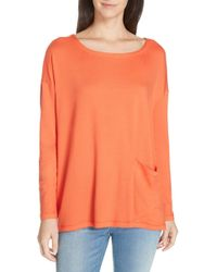 Eileen Fisher Stretch Terry Top (plus Size)