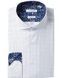 Isaac Mizrahi New York - Printed Dot Slim Fit Dress Shirt - Lyst