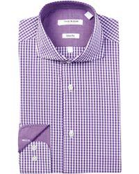 Isaac Mizrahi New York - Twill Check Slim Fit Dress Shirt - Lyst