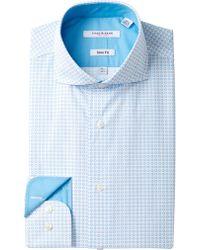 Isaac Mizrahi New York | Printed Diamond Slim Fit Dress Shirt | Lyst